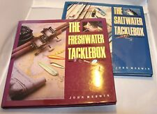 Freshwater Tacklebox and Saltwater Tacklebox John Merwin Hardcover Books 2 pcs