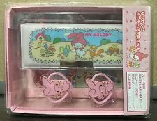 2016 NEW Sanrio MY MELODY mini pencil pen case with clips notebook box