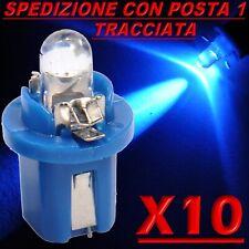 10 Pezzi LED T5 B8.5D BLU Lampade Lampadine Per Cruscotto e Quadro Strumenti P1