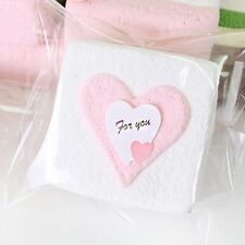 150 Love Hearts Stickers Pink/Blue Small 'For You' kids craft sheets letter bulk