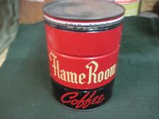FLAME ROOM COFFEE CAN McGARVEY  ATWOOD  ORIGINAL VINTAGE STORE TIN 2 LB