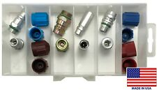 16 Piece A/C Service High & Low Side R-134a Port Adapter & Cap Assortment Kit