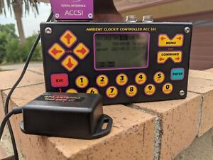 AMBIENT ACC-501 TIME CODE CONTROLLER MASTER CLOCK W/GPS ANTENNA/ALLCABLES