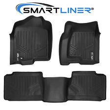 Smartliner Custom Fit Floor Mats Black For 2001-07 Silverado/Sierra Extended Cab (Fits: Chevrolet)