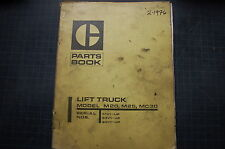 CATERPILLAR TOWMOTOR M20 M25 MC30 FORKLIFT Parts Manual book catalog list 1976