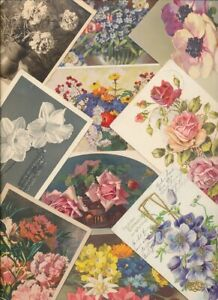 60 AK Blumen Flowers vor 1945