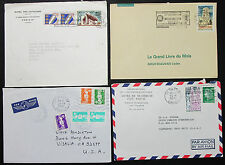 France Set of 4 Covers Letters Rotary Club Airmail Lupo Frankreich Briefe H-8217