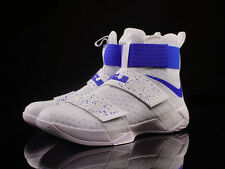 NIKE LEBRON SOLDIER 10 WHITE BLUE UK 9.5 EUR 44.5 MENS BASKETBALL SHOES TRAINERS