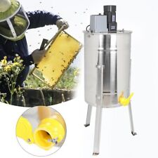 Electric 3 Frame Stainless Steel Honey Extractor Machine Beekeeping Equipment