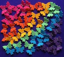 *** 60 Edible Rainbow Butterfly Cake Toppers BIRTHDAY CUPCAKES DECORATIONS  ***