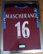 Javier Mascherano Match Worn Signed West Ham Framed Shirt 2006/07 AFTAL/UACC RD