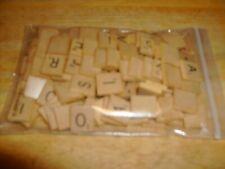 100 Scrabble Tiles Wooden Arts & Crafts DIY Scrapbooking Complete Set
