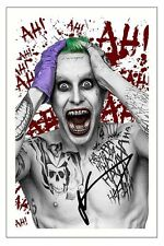 JARED LETO  SUICIDE SQUAD SIGNED 6x4 PHOTO PRINT AUTOGRAPH THE JOKER