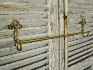 Gorgeous Antique French Brass Towel Rail, Bow & Ribbontails, Tres Chateau Chic