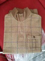 Polo Golf Ralph Lauren Quarter Zip Sweater men's Houndstooth Size Large L