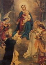 Heiligenbild Rosenkranzkönigin Hl. Maria Mutter Gottes 14,5 cm x 10 cm HBP 5117