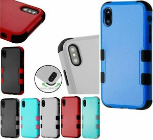 for iPhone X / XS / 10S - Hybrid Rugged Hard& Soft Armor Shockproof Case Cover