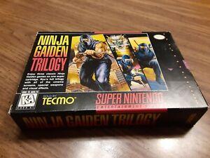 Ninja Gaiden Trilogy (SNES) Super Nintendo *BOX AND MANUAL ONLY*