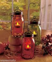 Country Rustic Star Mason Jar Lantern Votive Candle Tealight Holder Accent Decor
