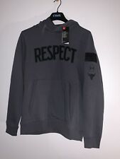 """UA PROJECT ROCK """"RESPECT"""" HOODIE MEN SIZE XXL PULL OVER NWT GRAY 1345581"""
