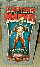 Bowen Designs Captain Marvel Statue - 1970's version Faux Bronze Figurine New