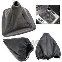 Funda para palanca de cambio para Bmw E46 Sedan cuero costura negra boot gaiter