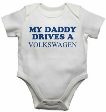 My Daddy Drives A Volkswagen Personalizado Divertidos Para Bebé Camisetas Body