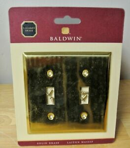 Baldwin Estate 4761.030.CD Polished Brass Double Toggle Switch Wall Plate 2-Gang
