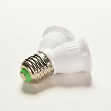 Screw E27 LED Base Light Lamp Bulb Socket 1 to 2 Splitter Adapter Converter KZ