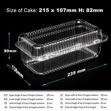 10-300 en plastique jetable transparent Boxes for Food Cake Taille - 215 x 107 x...