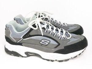 Skechers Men Athletic Casual Walking Sneakers Adult 13 Gray Sn50988