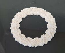 5 pieces, Decorative Plaster Flowers Ring, Home Décor, Art Design