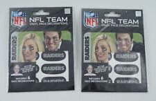 Lot of (2) Oakland Raiders Team Logo NFL Eye Black Strips (3 Pair)