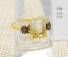 Bi-Colour Citrine Ratanakiri Cognac Zircon 915 Ring TGGC Size 7