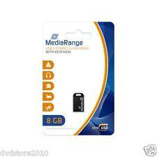 1 MediaRange USB Nano Flash Drive 8GB 2.0 blister black GB speed 15 MB/s MR920