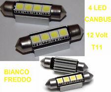 2 Lampadine Siluro T11 LED Canbus C5W. Lampadina luce interni bianco. No errori!