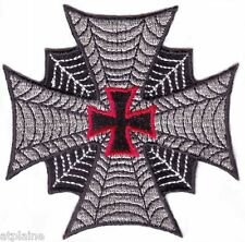 Patch brodé SPIDER WEB CROSS - Style BIKER HARLEY