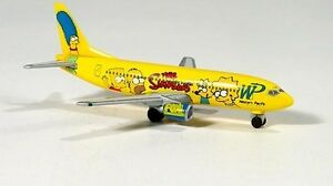Herpa 500470 Western Pacific Airlines The Simpsons Livery Boeing 737-300 New