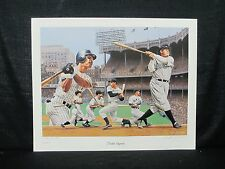 New York Yankees Legends Alan Zuniga Lithograph Ruth DiMaggio Mantle Gehrig