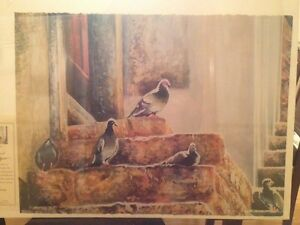 Linda Baker Michigan Old Guard Limited Edition Art Giclee Print Birds Doves