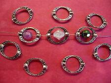 Tibetan Silver Oval Bead Frame 10 per pack