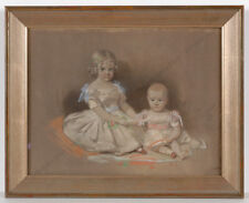 "George Yeats ""Portrait of Two Little Children"", Pastel, 1851"