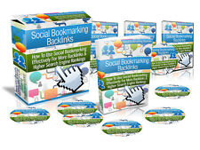 SOCIAL BOOKMARKING BACKLINKS For Higher Search Engine Optimazation SEO Rank (CD)