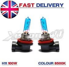 2x H11 8500K 100W FOG LIGHT BULBS HID LOOK XENON BLUE FANTASTIC COLOUR UK SELLER