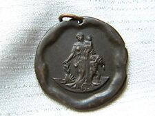 Antique Metal Medal Commemorative First Aids 1903 Semi Nude Lady