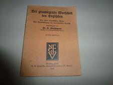 Rarität Mutschmann-Der grundlegende Wortschatz des Englischen 1945