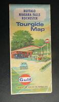 1969 Buffalo Niagara Falls Rochester street maps Gulf oil gas New York