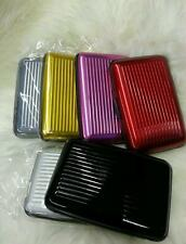 ALUMINIUM CASE CREDIT CARD RFID PROOF WALLET/HOLDER BUSINESS CARDS COLOURS