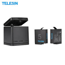 TELESIN Triple Charger + Battery + USB Charging Box for Hero Gopro 7/6/5 X0L4