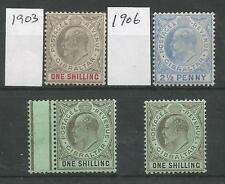 GIBRALTAR 4 EVII STAMPS FRESH MOUNTED MINT 3 ARE 1/- VALUES CAT £183
